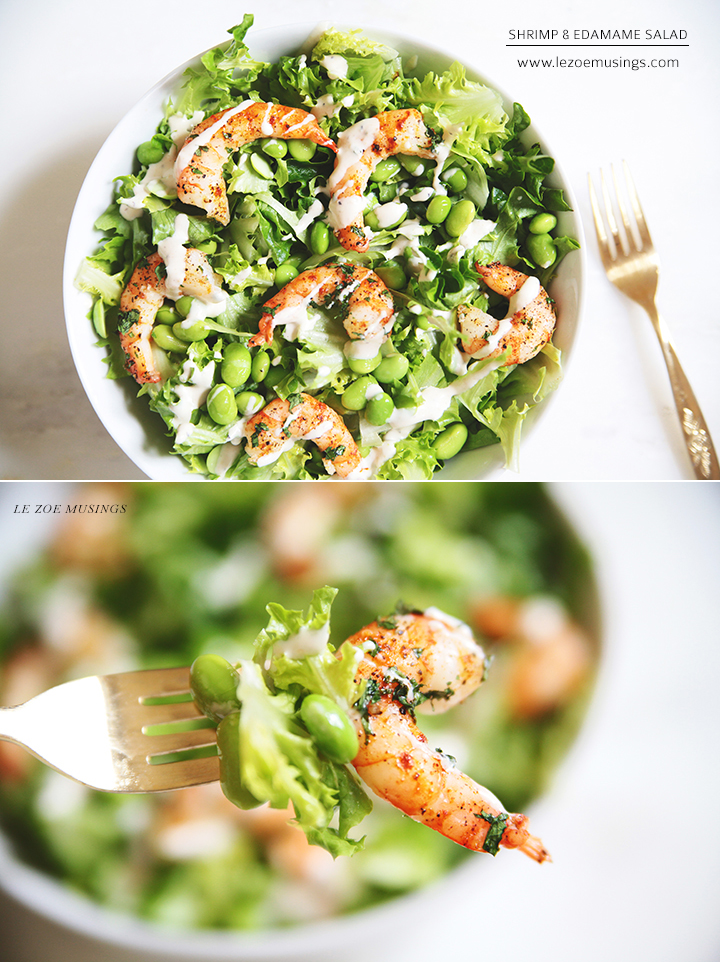 Shrimp and Edamame Salad by Le Zoe Musings3