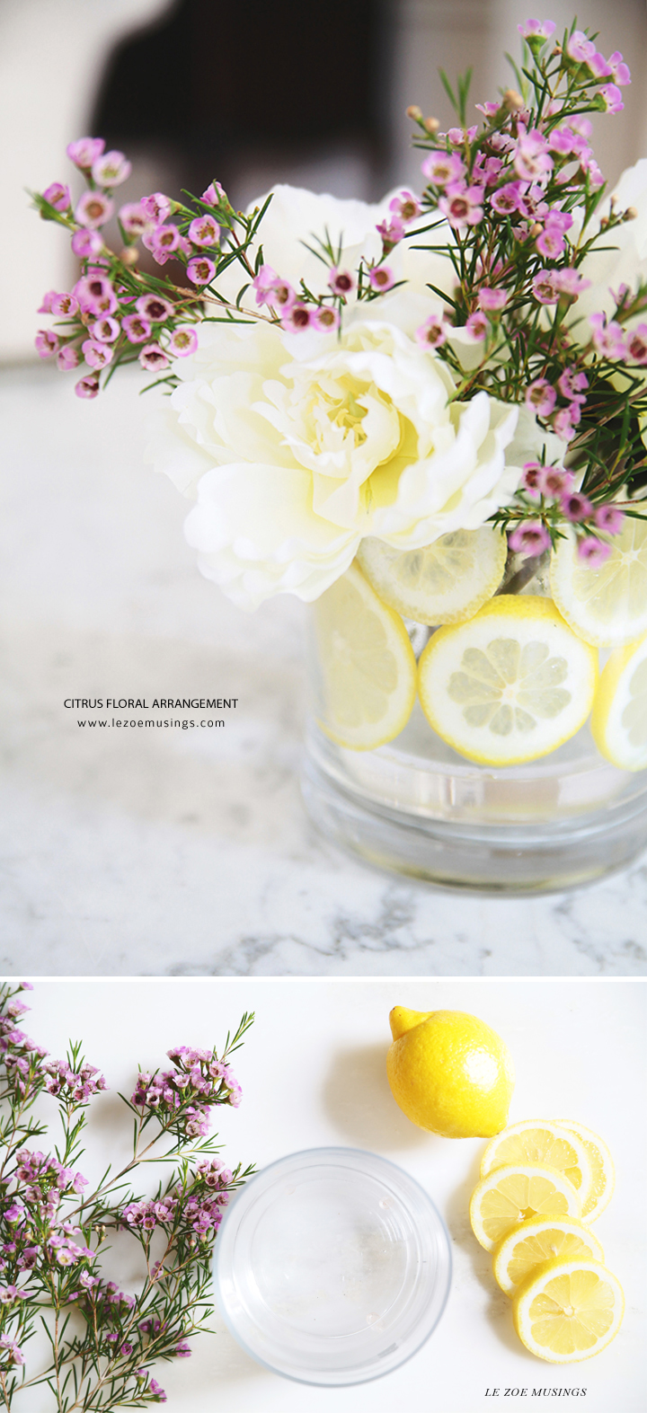 CITRUS FLORAL ARRANGEMENT BY LE ZOE MUSINGS