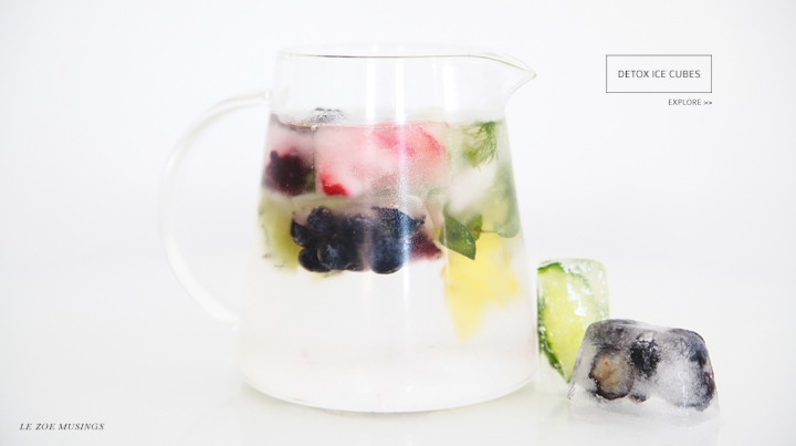 Detox Ice Cubes by Le Zoe Musings Banner