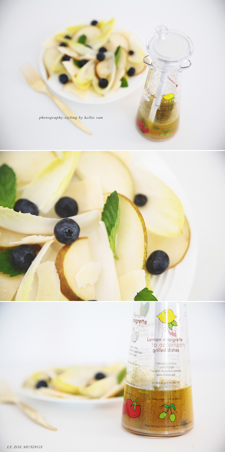 Endive Blueberry Pear Salad by Le Zoe Musings 2