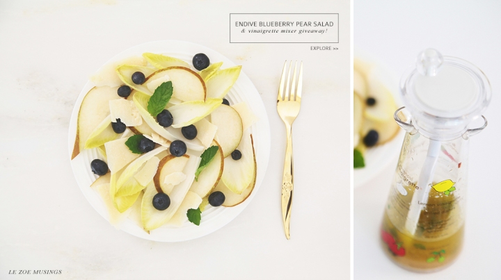 Endive Blueberry Pear Salad by Le Zoe Musings Banner
