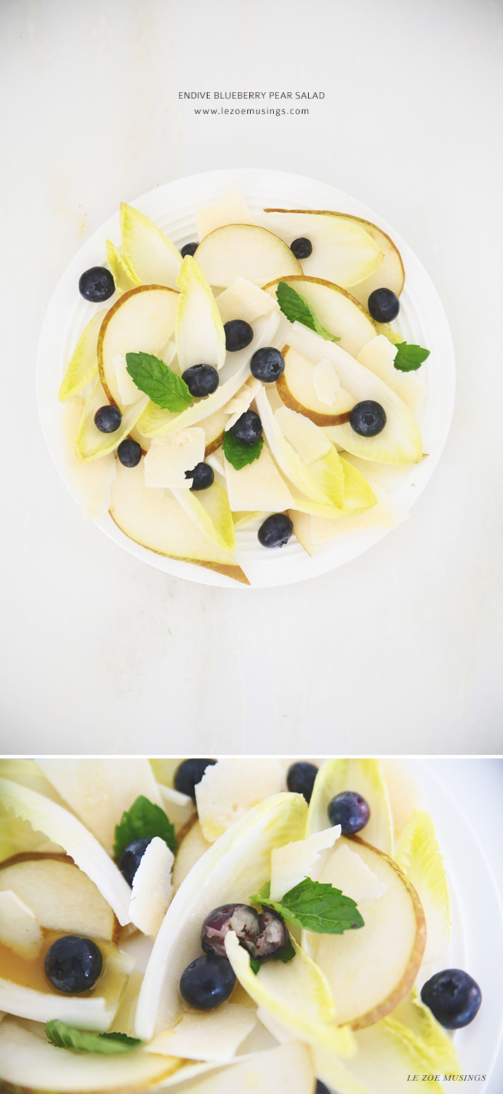 Endive Blueberry Pear Salad by Le Zoe Musings