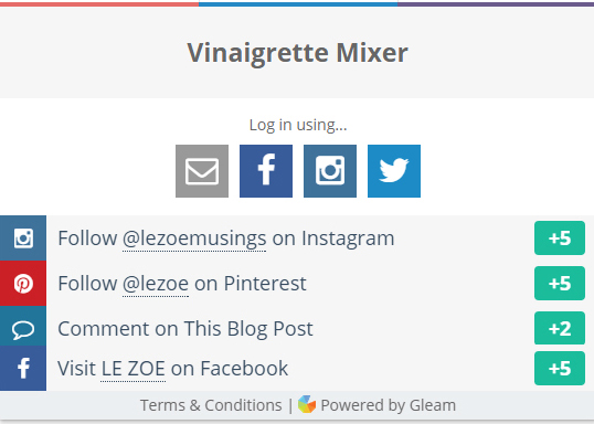 Vinaigretter Mixer Giveaway 2