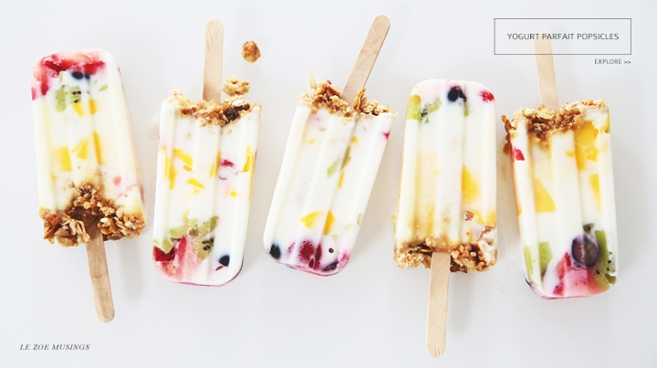 Yogurt Parfait Popsicles by Le Zoe Musings Banner