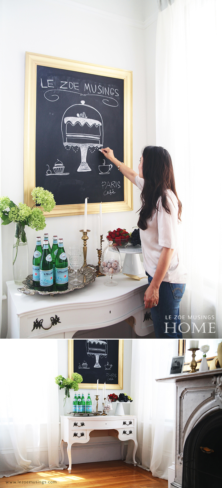 Buffet Table Makeover by Le Zoe Musings 2