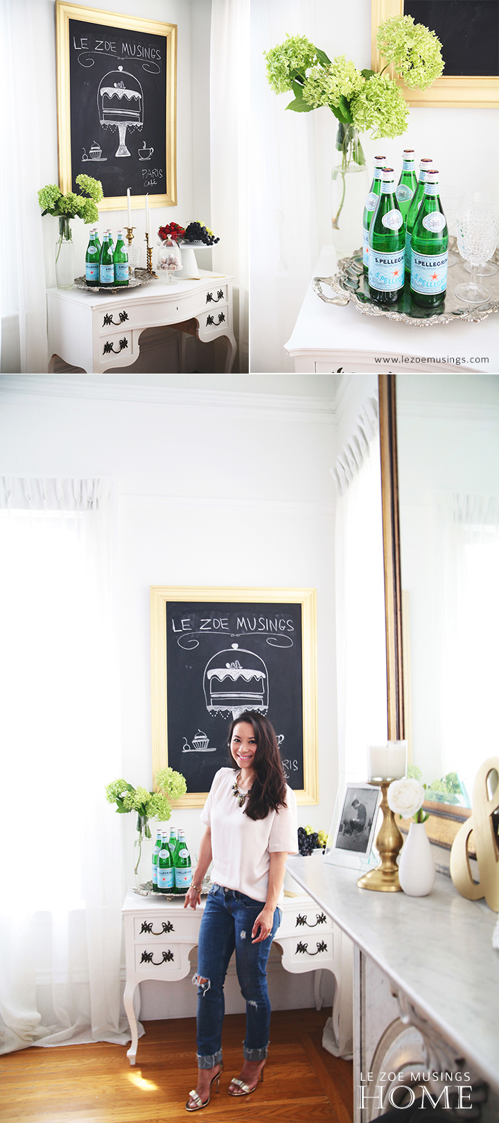 Buffet Table Makeover by Le Zoe Musings 3