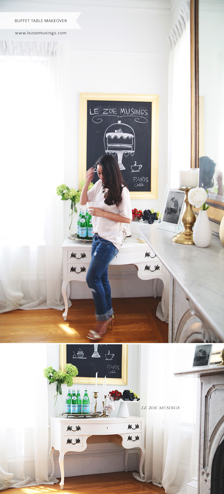 Buffet Table Makeover by Le Zoe Musings 6