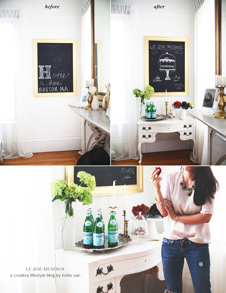 Buffet Table Makeover by Le Zoe Musings Before_After2