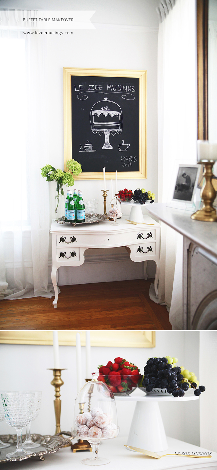 Buffet Table Makeover by Le Zoe Musings