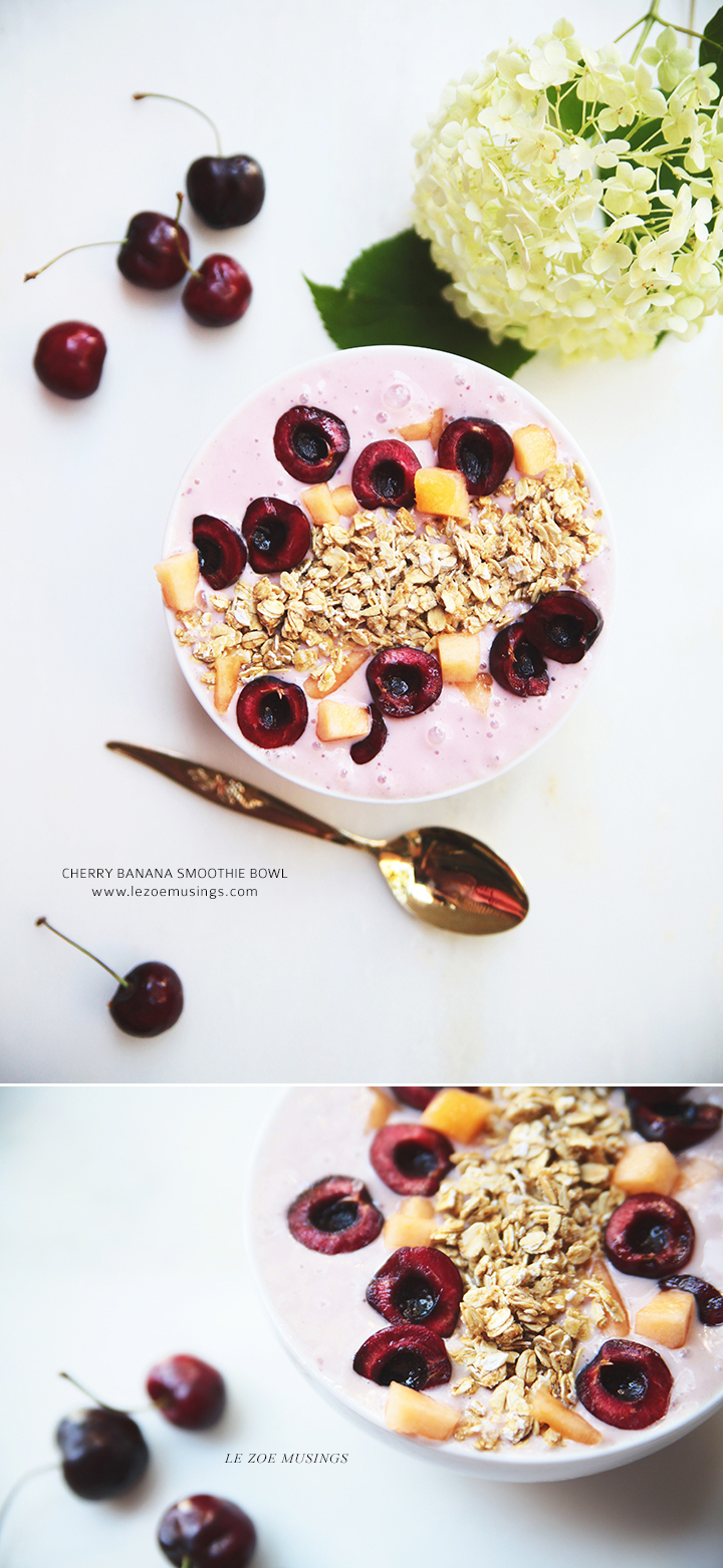 Cherry Banana Smoothie Bowl by Le Zoe Musings2