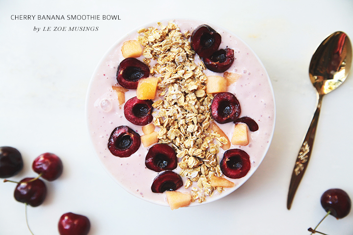 Cherry Banana Smoothie Bowl by Le Zoe Musings3
