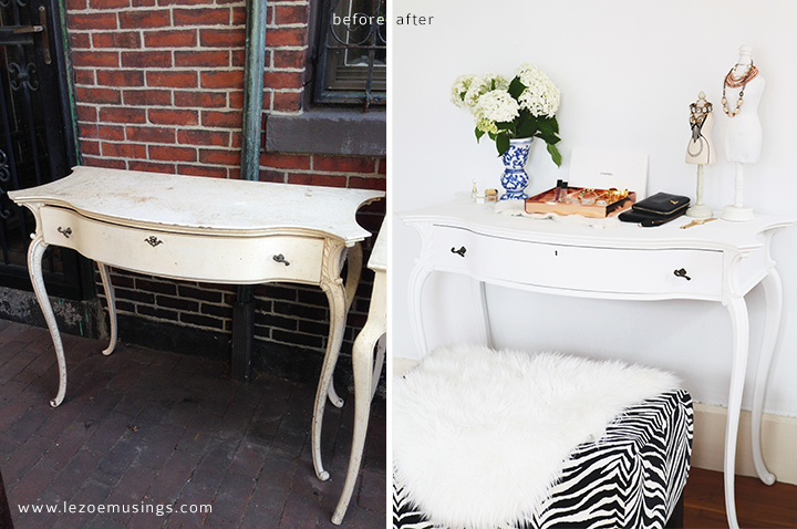 Desk Makeover by Le Zoe Musings