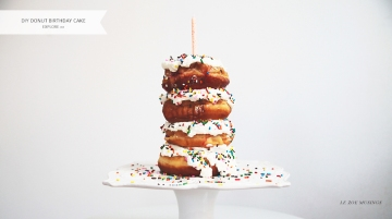 Donut Birthday Cake by Le Zo Musings Banner