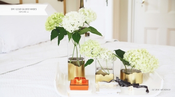 Gold Gilded Vases by Le Zoe Musings Banner