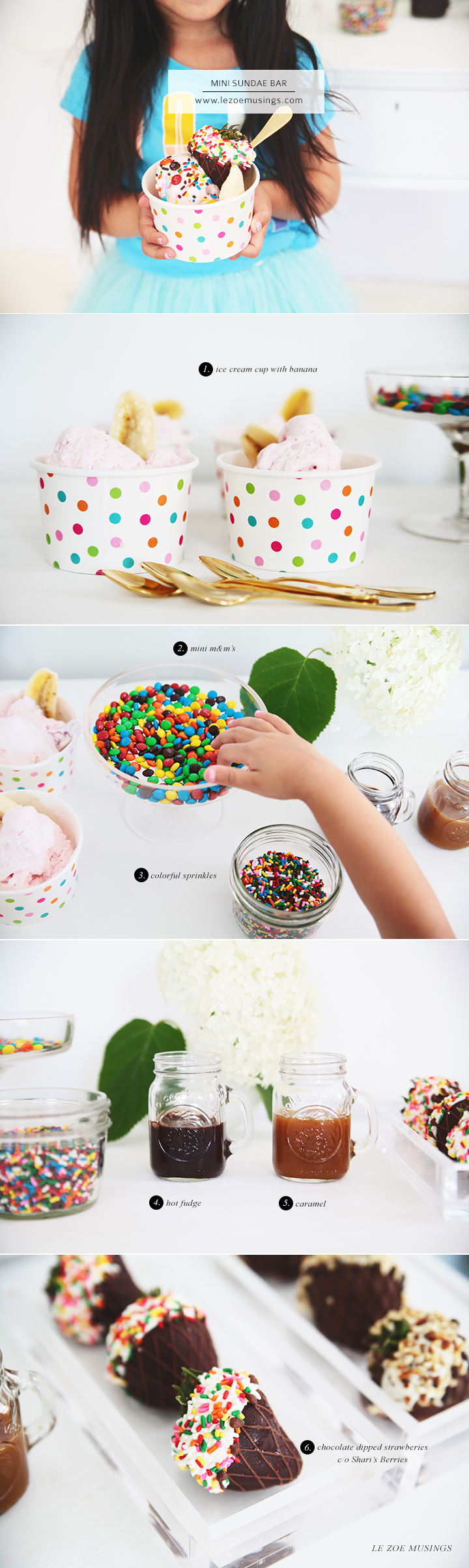 Mini Sundae Bar by Le Zoe Musings 3