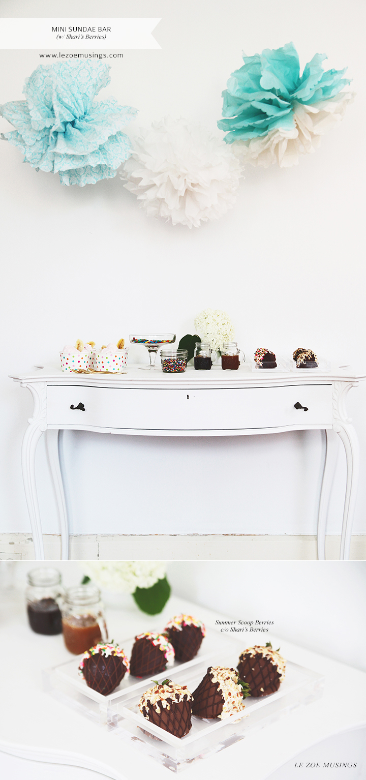 Mini Sundae Bar by Le Zoe Musings