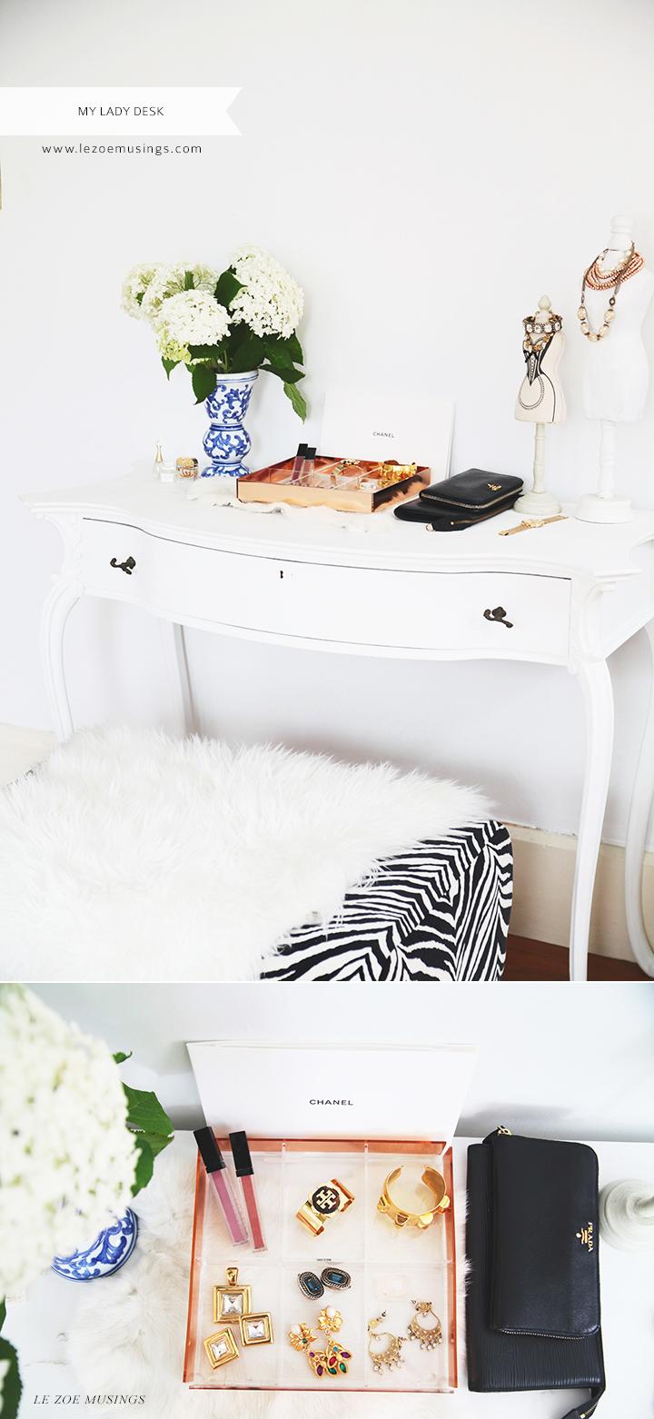 My Lady Desk by Le Zoe Musings