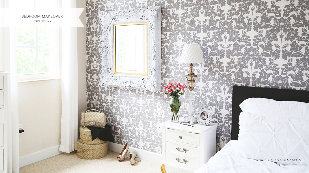 Bedroom Makeover with Wallpaper by Le Zoe Musings Banner