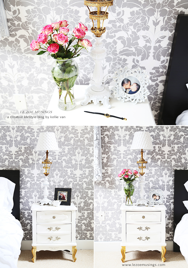 Bedroom Makeover with Wallpaper by Le Zoe Musings