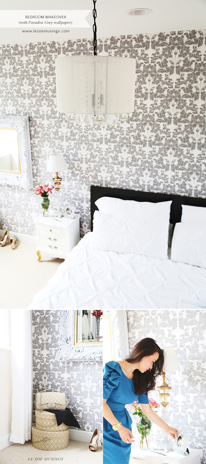Bedroom Makeover with Wallpaper by Le Zoe Musings2