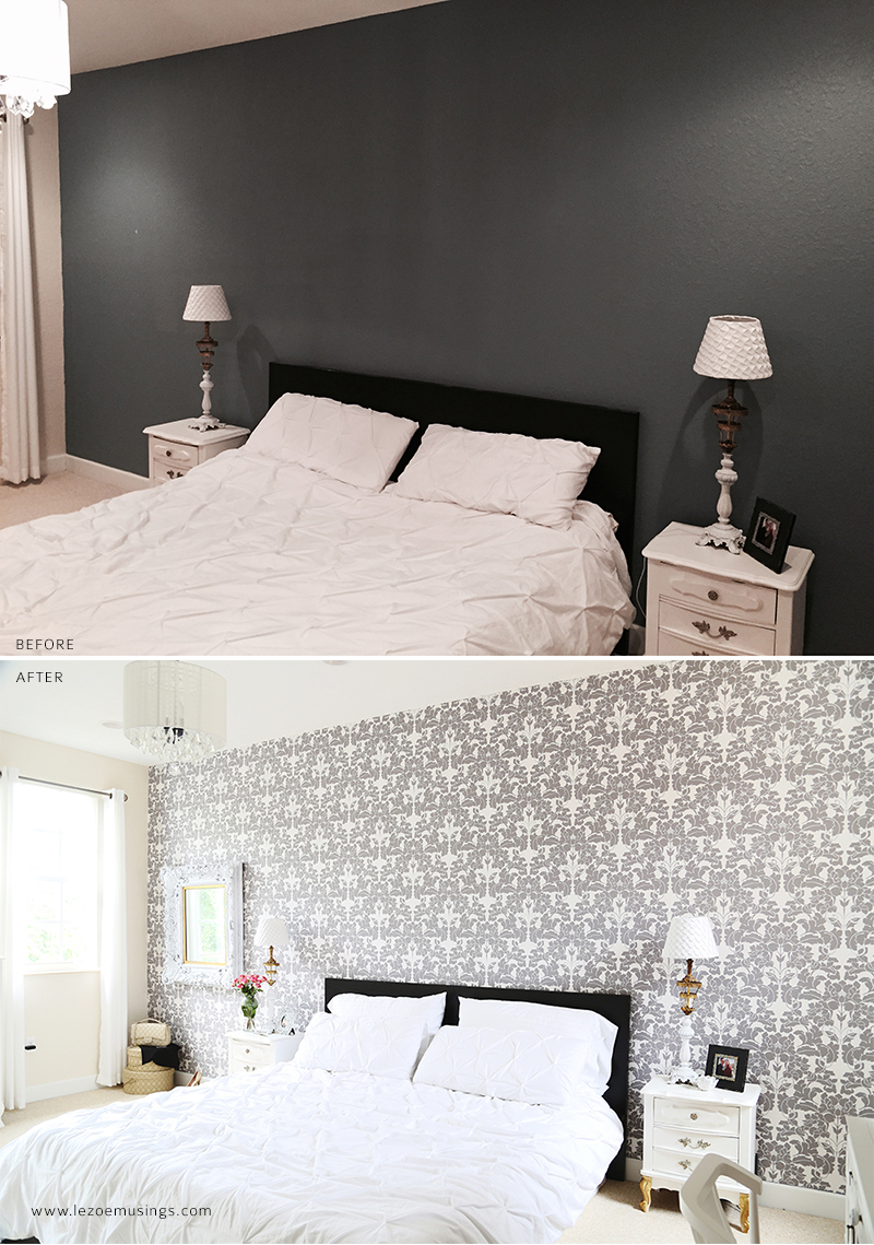 Bedroom Makeover with Wallpaper by Le Zoe Musings3