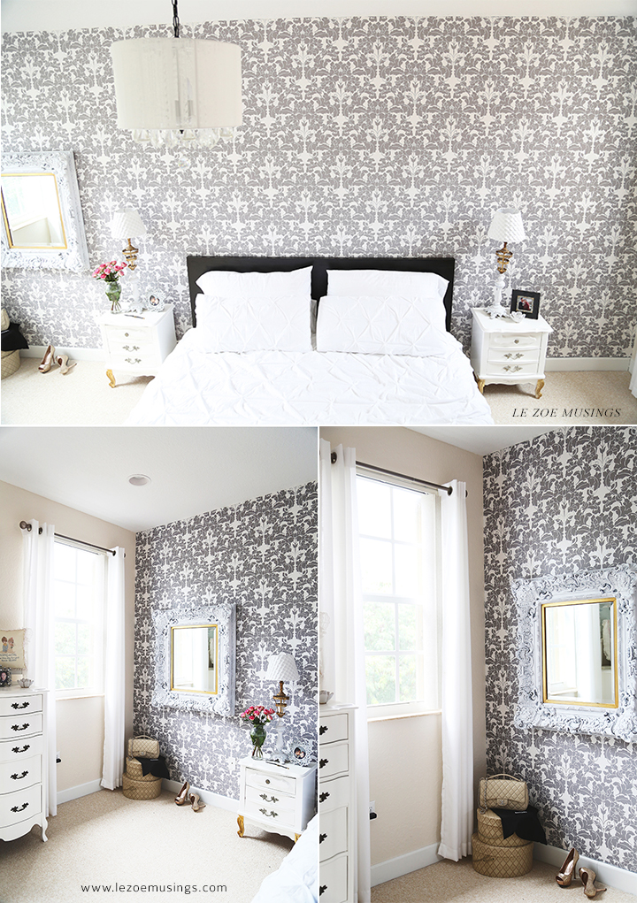 Bedroom Makeover with Wallpaper by Le Zoe Musings4