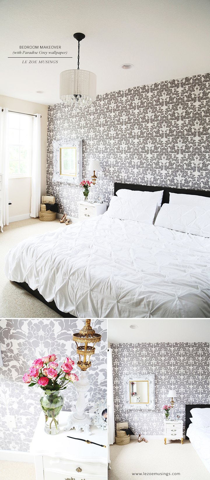 Bedroom Makeover with Wallpaper by Le Zoe Musings5
