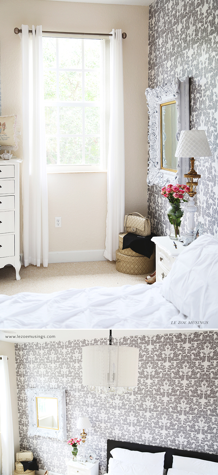 Bedroom Makeover with Wallpaper by Le Zoe Musings7