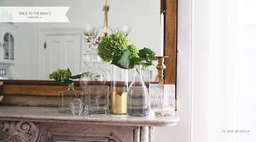 Decorating with a Cluster of Glasses by Le Zoe Musings Banner