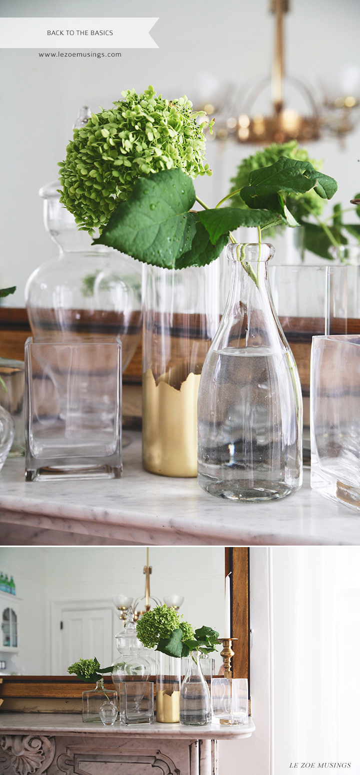 Decorating with a Cluster of Glasses by Le Zoe Musings