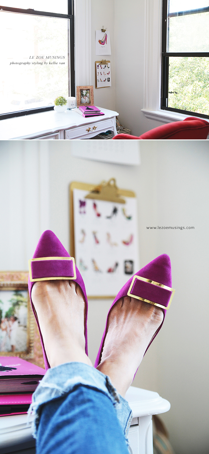 Fancy Shoes in the Home Office by Le Zoe Musings 2