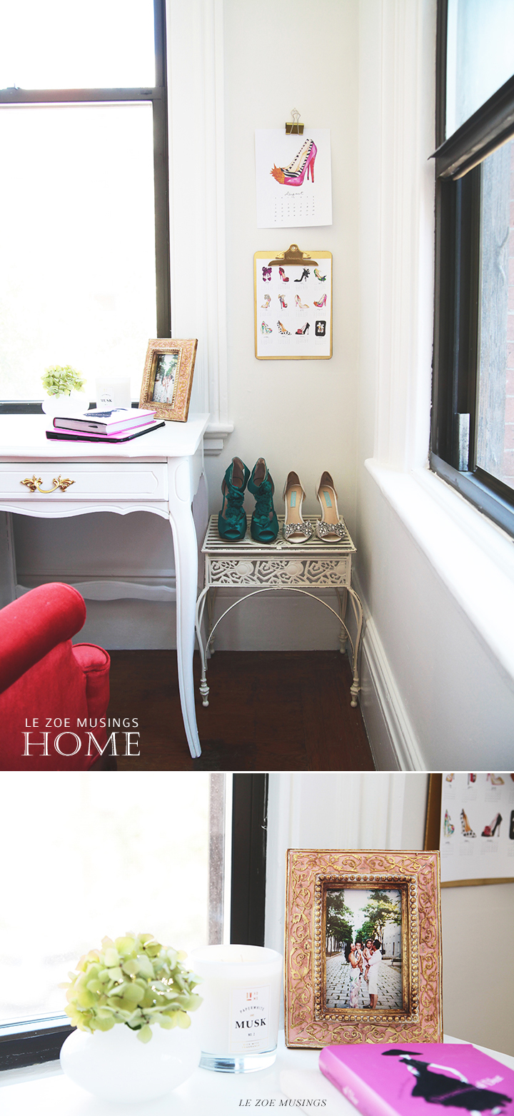 Fancy Shoes in the Home Office by Le Zoe Musings