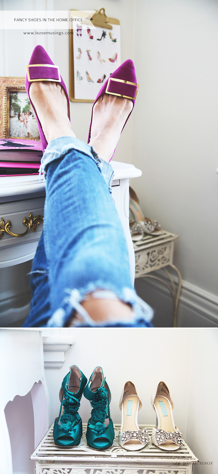 Fancy Shoes in the Home Office by Le Zoe Musings_4
