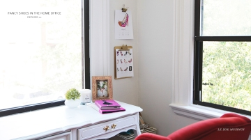 Fancy Shoes in the Home Office by Le Zoe Musings_Banner 2