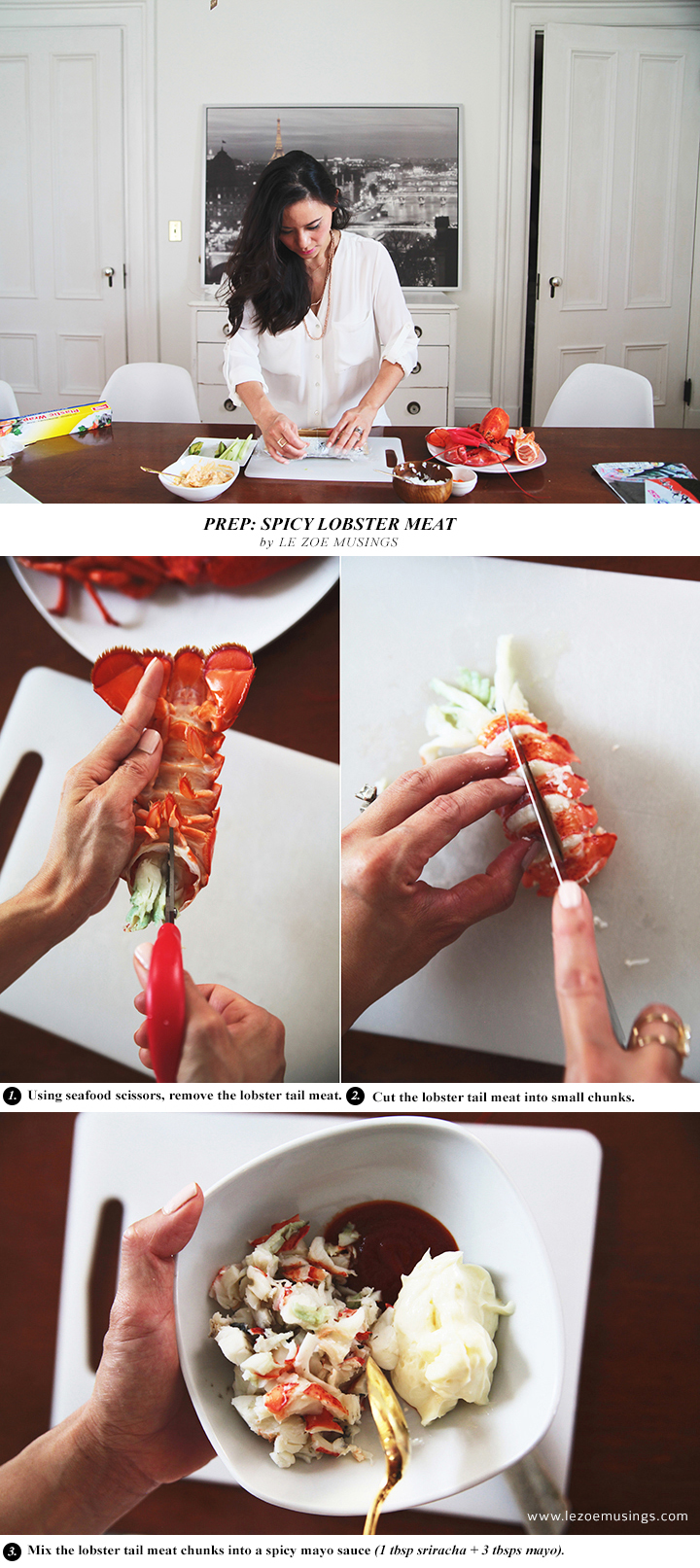 How to make Spicy Lobster Roll by Le Zoe Musings 3