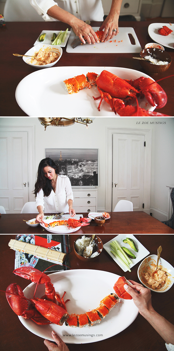 How to make Spicy Lobster Roll by Le Zoe Musings 4