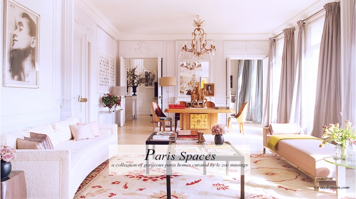 Paris Homes by Le Zoe Musings Banner