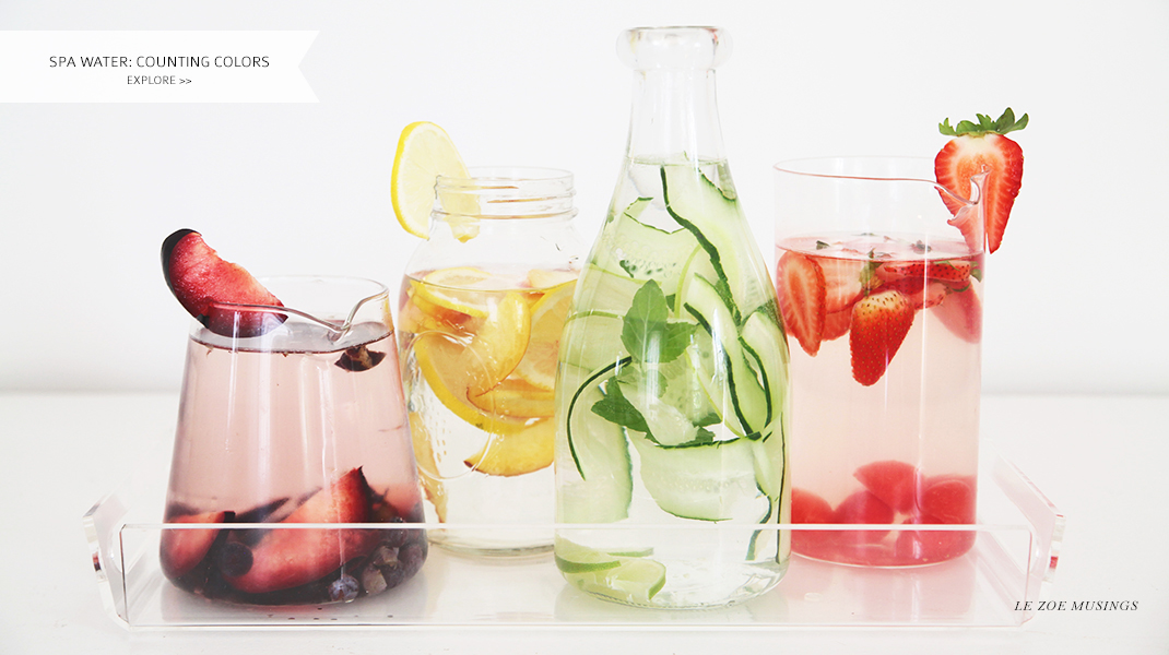 Spa Water Health Benefits by Le Zoe Musings Banner