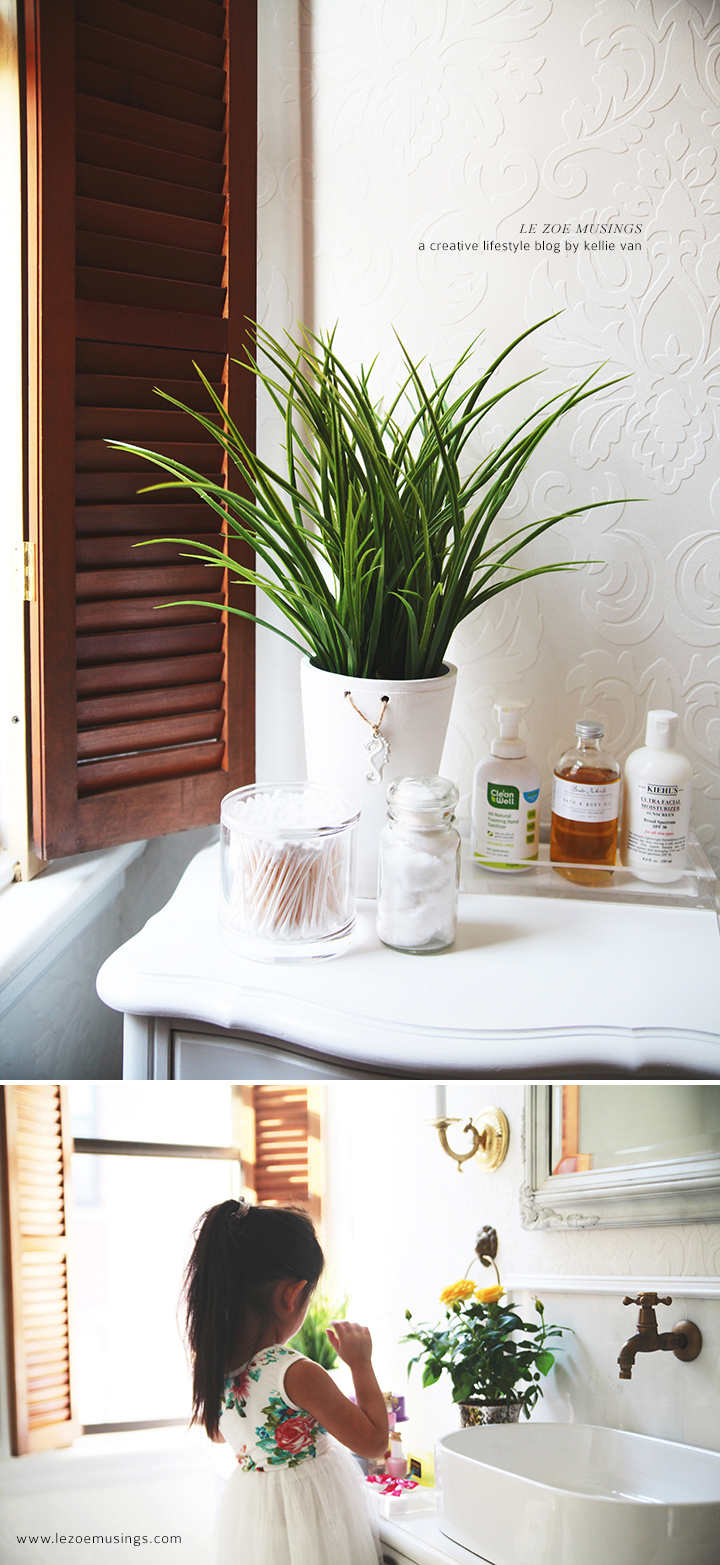 DIY Bathroom Vanity Makeover (using A Thrifted Hutch) By Le Zoe Musings 7