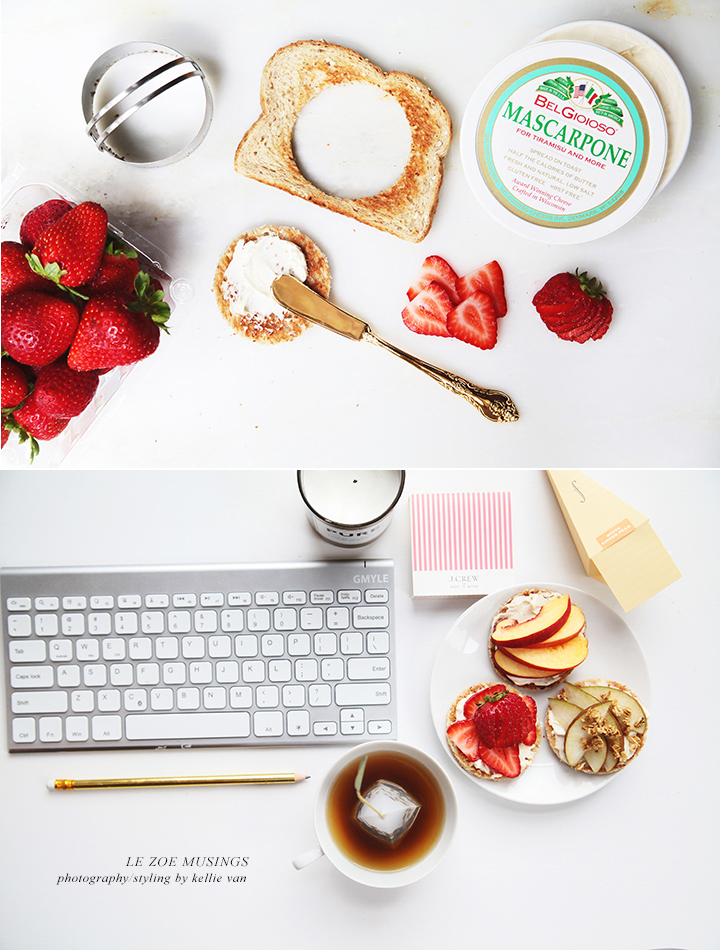 Toast, mascarpone, and fruits by Le Zoe Musings 3