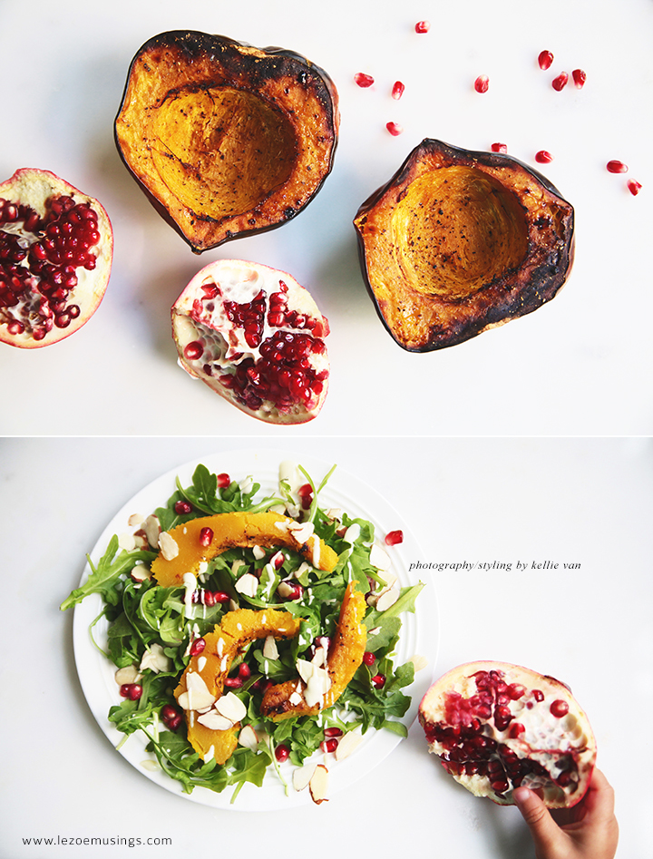 Roasted Acorn Squash & Arugula Salad_Le Zoe Musings 2