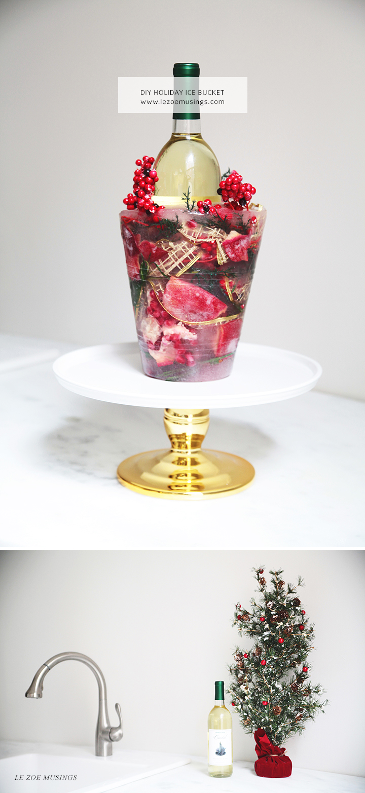DIY Holiday Ice Bucket by Le Zoe Musings