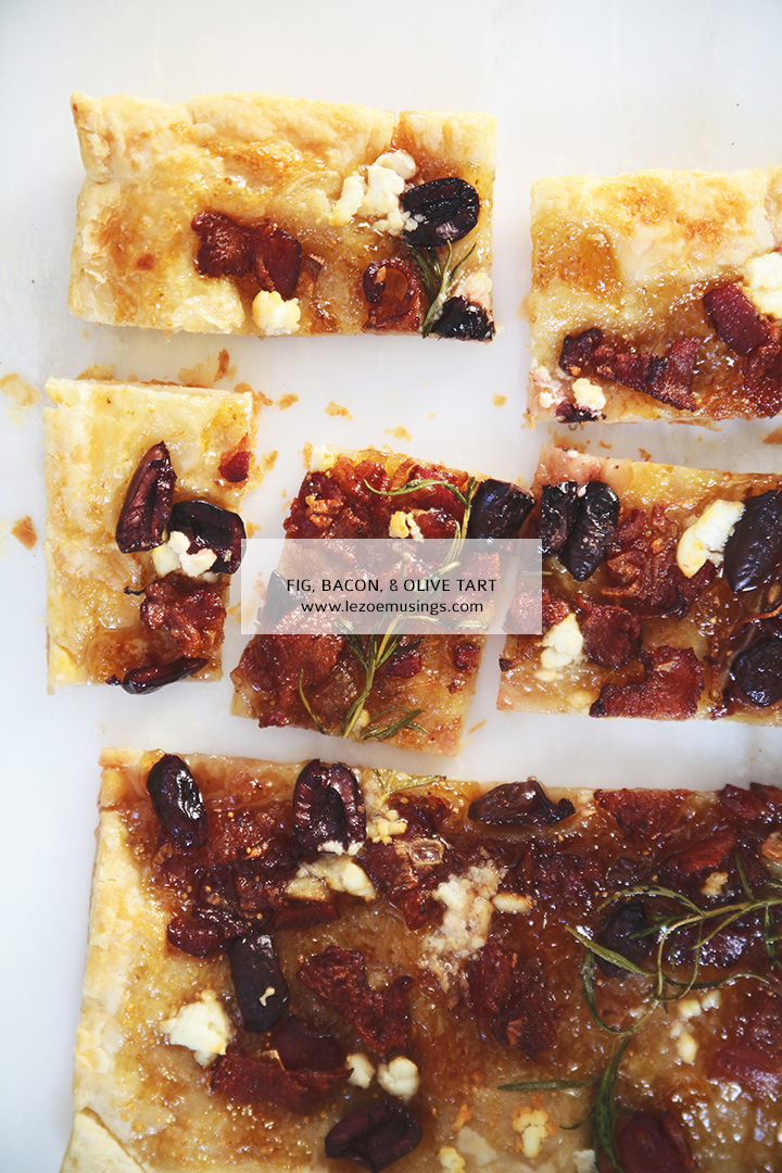 Fig, Bacon, and Olive Tart by Le Zoe Musings 4
