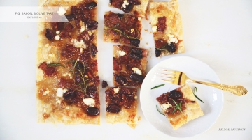 Fig, Bacon, and Olive Tart by Le Zoe Musings_Banner