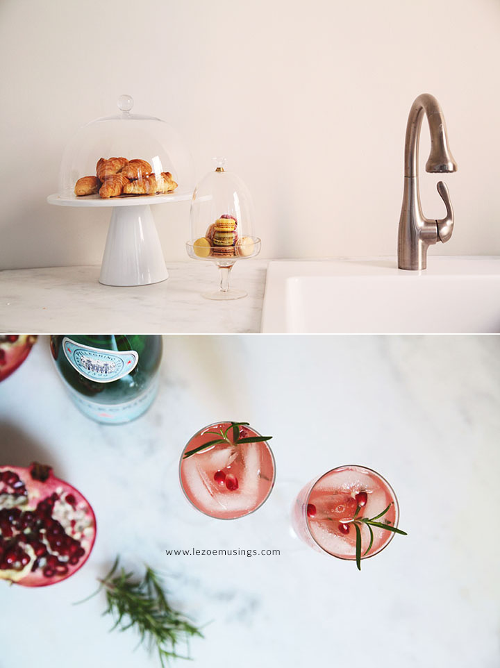 Guava, Pomegranate and Rosemary Sparkling Mocktail by Le Zoe Musings 4