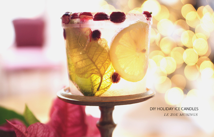 DIY Holiday Ice Candle by Le Zoe Musings4