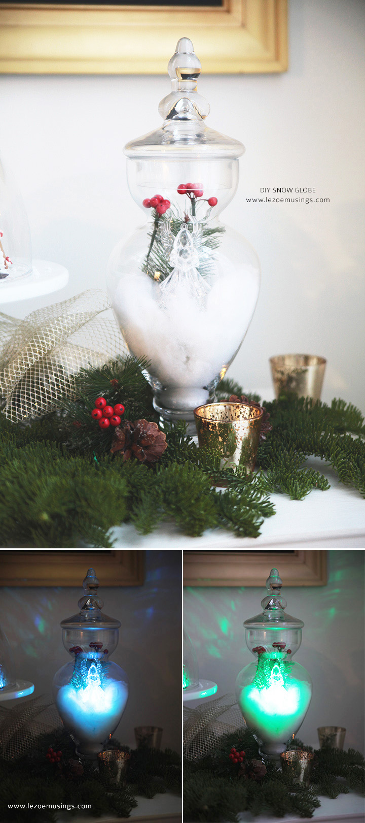 DIY Snow Globe Village by Le Zoe Musings