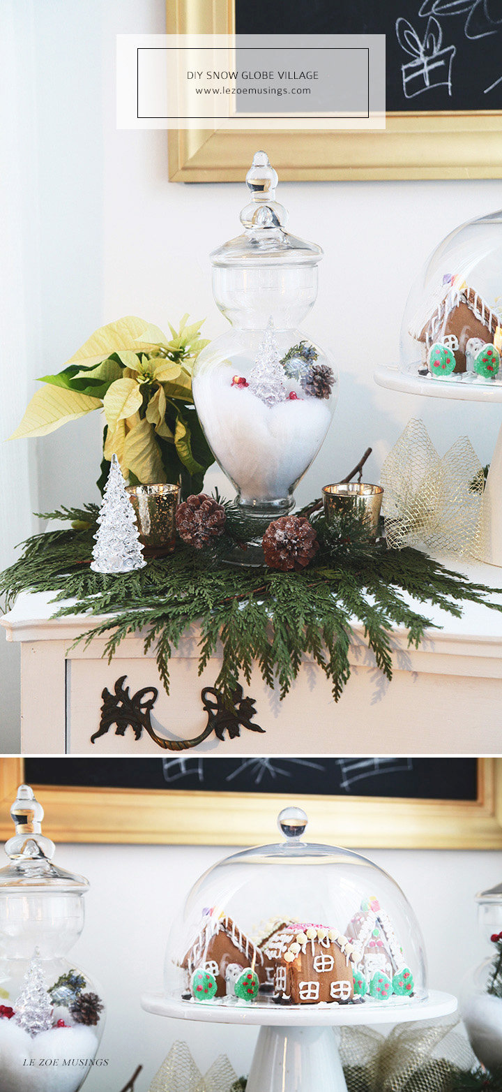 DIY Snow Globe Village by Le Zoe Musings3