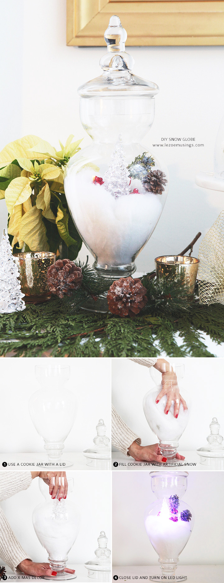 DIY Snow Globe Village by Le Zoe Musings5