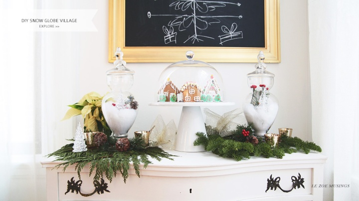 DIY Snow Globe Village by Le Zoe Musings_Banner